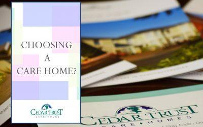 Choosing a Care Home…