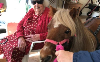Lollipop and Tinker Bell visit Cedar Trust..